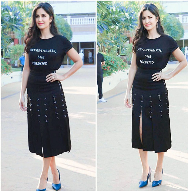 Katrina Kaif turns wears her heart on her fashionable sleeve and says it all with a slogan tee!