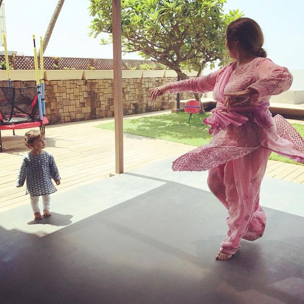 Misha Kapoor takes dance lessons from grandmother Neelima Azeem