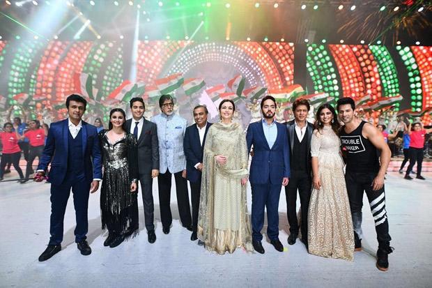 RIL 40 Shah Rukh Khan arrives on an ATV; Amitabh Bachchan plays KBC with Ambani kids at the grand celebration