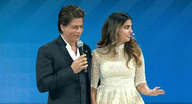 RIL 40 Shah Rukh Khan arrives on an ATV; Aplays KBC with Ambani kids at the grand celebration