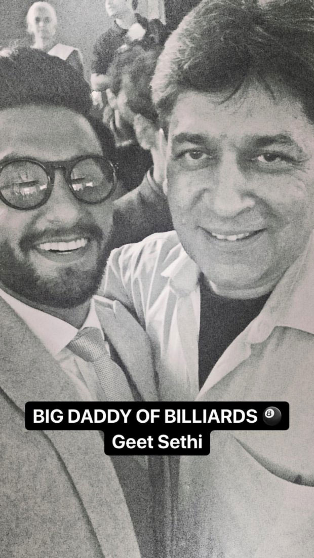 Ranveer Singh strikes a pose with Deepika Padukone's dad Prakash Padukone; meets Abhinav Bindra, Rahul Dravid and others! (6)