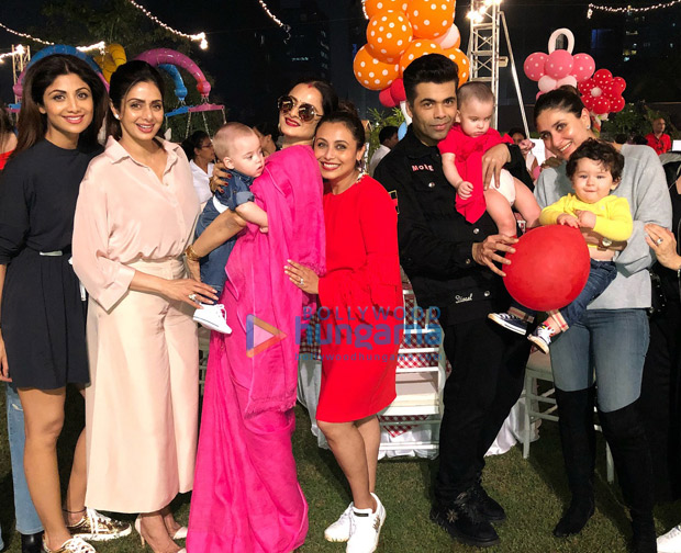 Shah Rukh Khan, AbRam Khan, Kareena Kapoor Khan, Taimur, Karan Johar and others attend Rani Mukerji's daughter Adira's birthday party! (1)