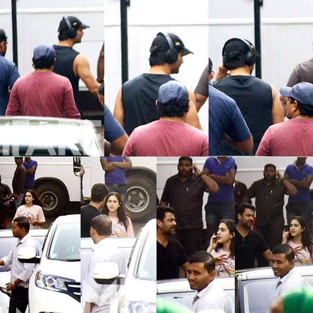 Sushant Singh Rajput and Sara Ali Khan shoot for Kedarnath in Mumbai
