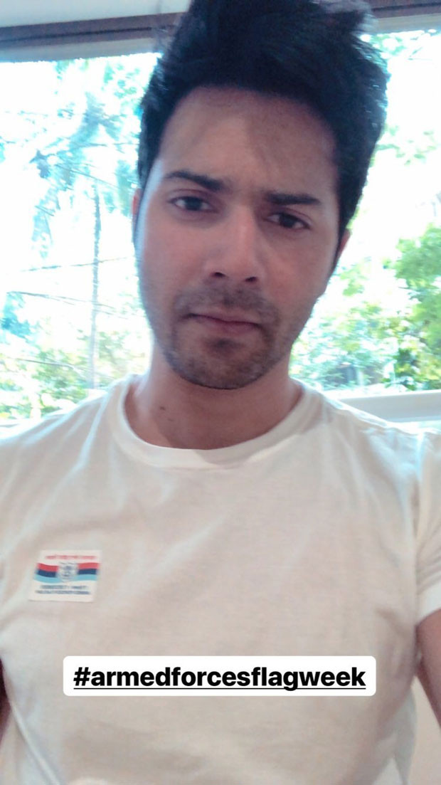 Varun Dhawan urges everyone to celebrate Armed Forces Flag Day