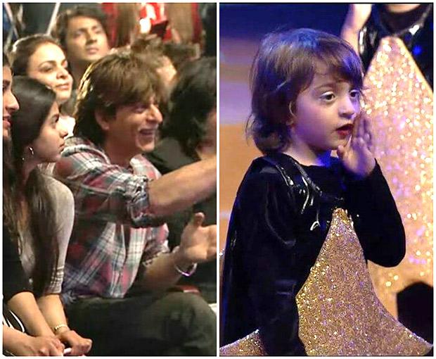 WATCH Abram Khan performs on 'Yeh Tara Woh Tara'; Shah Rukh Khan and Suhana Khan enjoy the performance