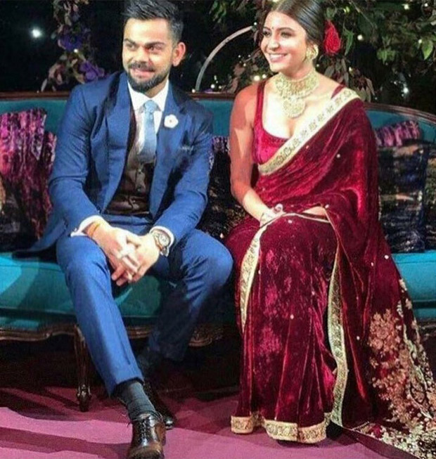 WATCH Virat Kohli gives a sweet kiss to Anushka Sharma after their engagement ceremony (1)
