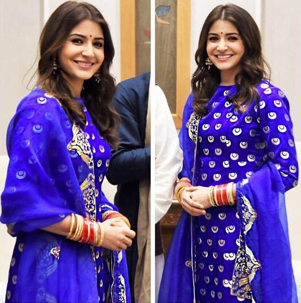 Wowza! Anushka Sharma, the down-right gorgeous December bride glows in a resplendent electric blue ensemble! (3)