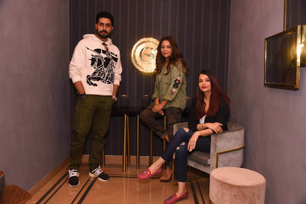 Check out Aishwarya Rai Bachchan and Abhishek Bachchan ended 2017 by visiting Gauri Khan's design