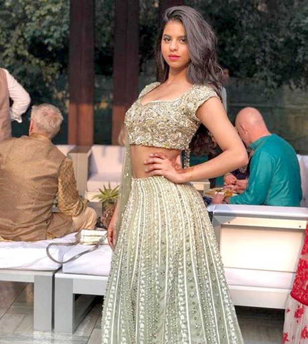 Check out Suhana Khan looks beautiful in a lehenga at a family wedding