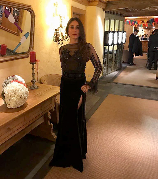 Daily Style Pill Kareena Kapoor Khan has a way with a black dress, nude lips and making an entrance for NYE 2018! (1)