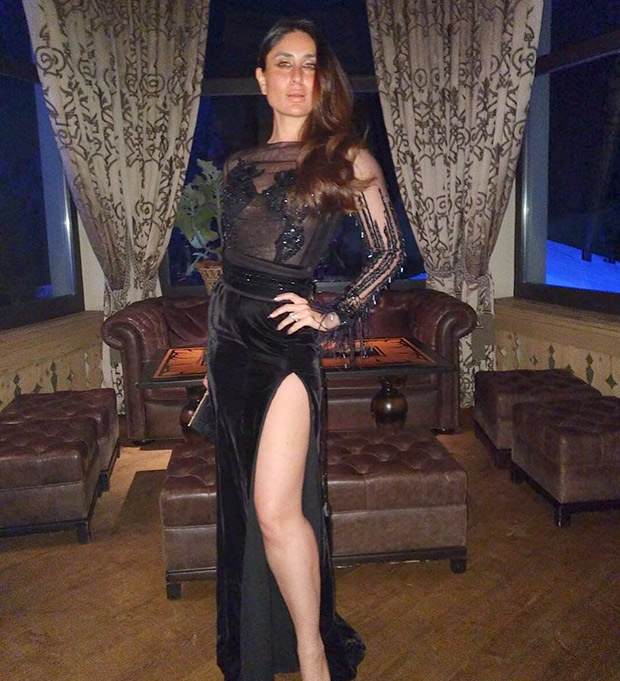 Daily Style Pill Kareena Kapoor Khan has a way with a black dress, nude lips and making an entrance for NYE 2018!