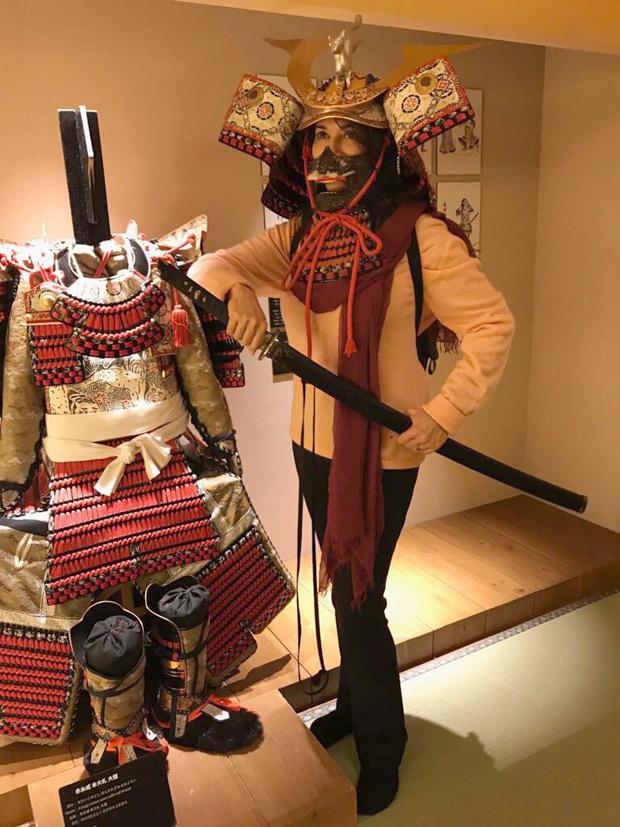 Madhuri Dixit turns Samurai in Tokyo