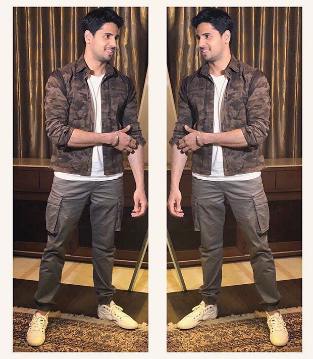 Sidharth Malhotra works the military style for Aiyaary promotions