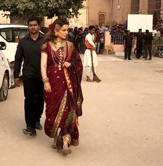 LEAKED! Kangana Ranaut looks regal as young Rani Lakshmibai on Manikarnika- The Queen of Jhansi sets