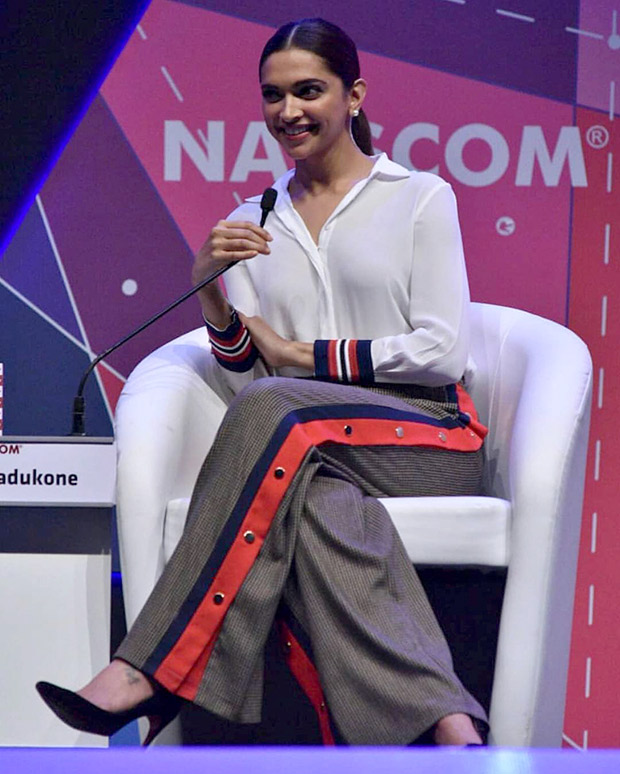 Deepika Padukone keeps it easy and chic for the NASSCOM event in Hyderabad