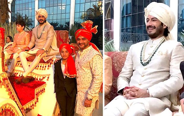 Groom Mohit Marwah at his wedding in UAE