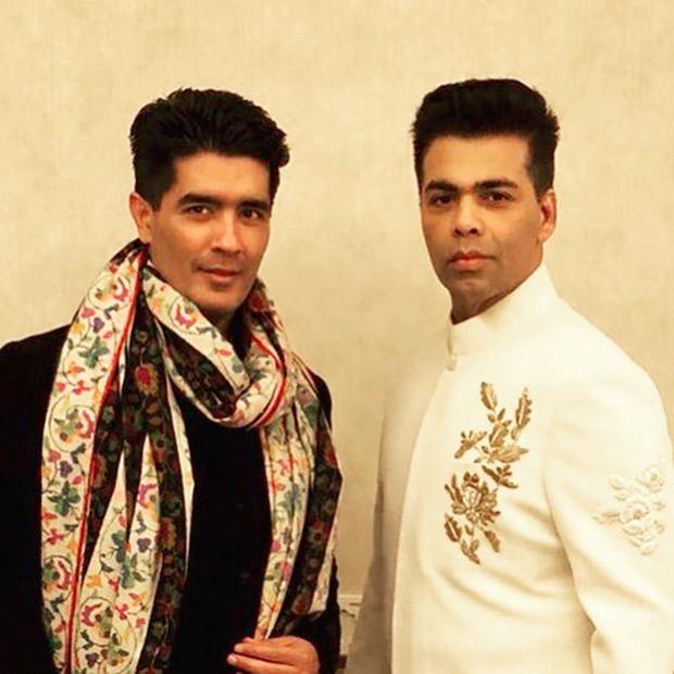 Karan Johar and Manish Malhotra at the Mohit Marwah and Antara Motiwala wedding