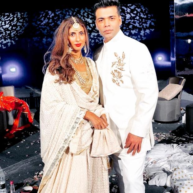 Karan Johar and Shweta Bachchan at the at the Mohit Marwah and Antara Motiwala wedding