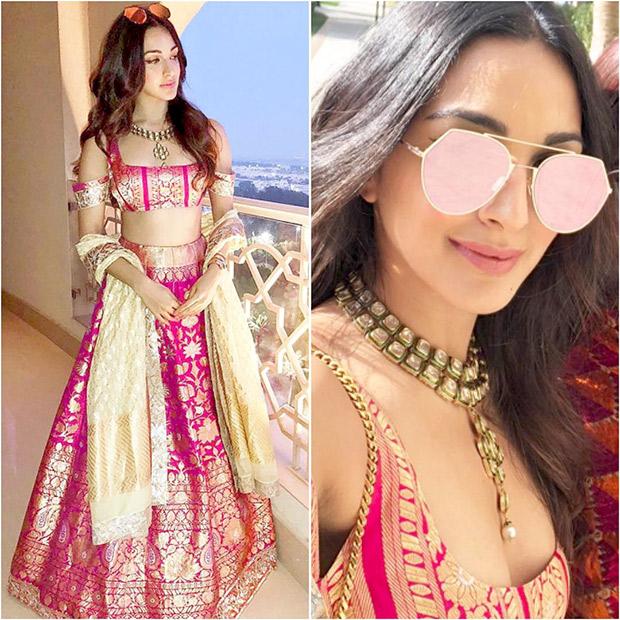 Kiara Advani looks pretty in pink at the pre-wedding festivities of Mohit Marwah Antara Motiwala