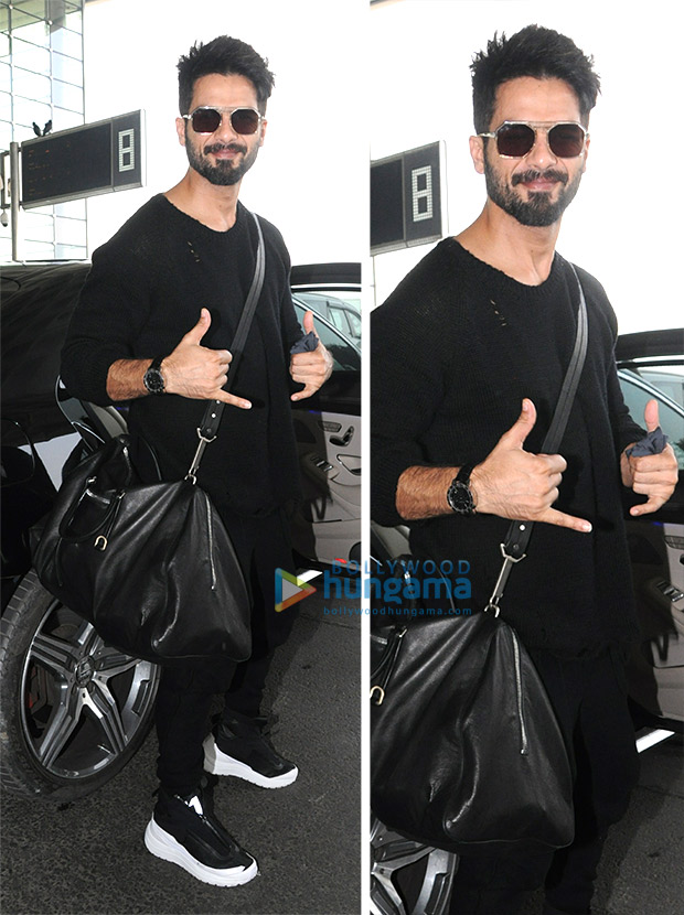 Shahid Kapoor airport style