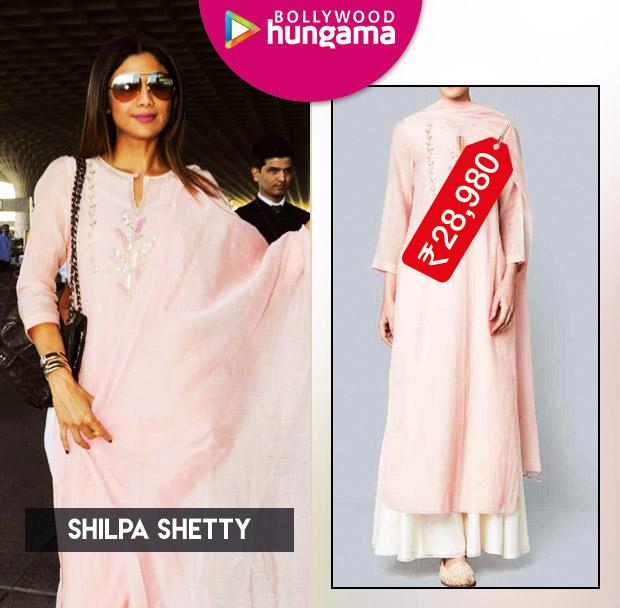 Weekly Celeb Splurges Shilpa Shetty in Anita Dongre