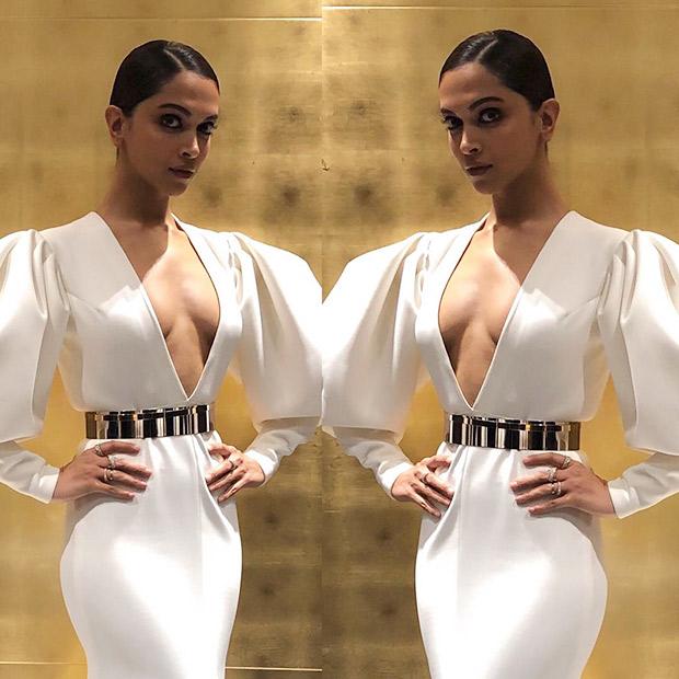 Deepika Padukone flaunts a minimal makeup and a slick hairdo