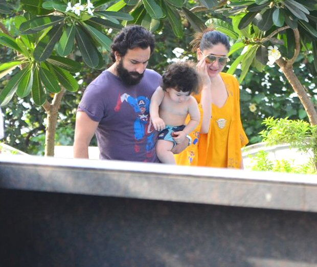 AWW! Taimur Ali Khan preps for a swimming session with Kareena Kapoor Khan and Saif Ali Khan