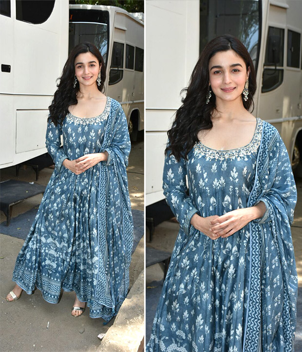Alia Bhatt in Anita Dongre blue suit