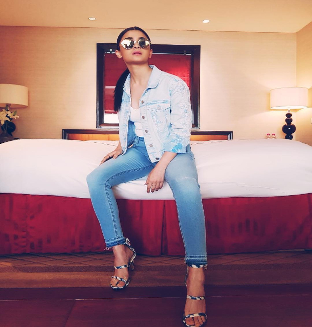 Alia Bhatt strikes a pose for Raazi promotions