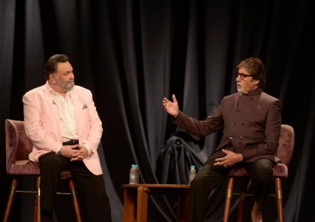"""""""I am fortunate enough to be working again with Rishi Kapoor in 102 Not Out""""- Amitabh Bachchan"""