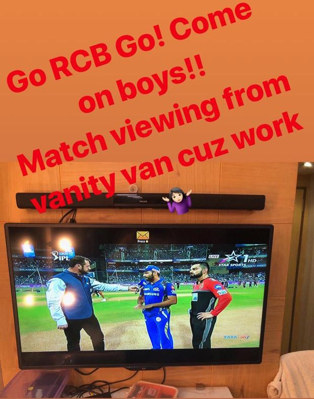Anushka Sharma CHEERS for Virat Kohli from vanity van from Zero sets (see picture)