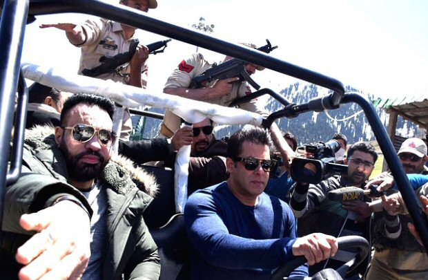 RACE 3: Salman Khan meets Mehboob Muftil; begins begin Kashmir shoot with Jacqueline Fernandez with a drive