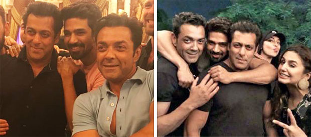 Salman Khan, Bobby Deol and other Race 3 stars come together for the birthday of Saqib Saleem [see pics and videos]