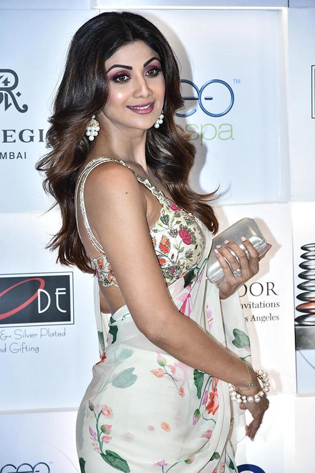 Shilpa Shetty looks stunning in a saree at GeoSpa Asia Awards 2018