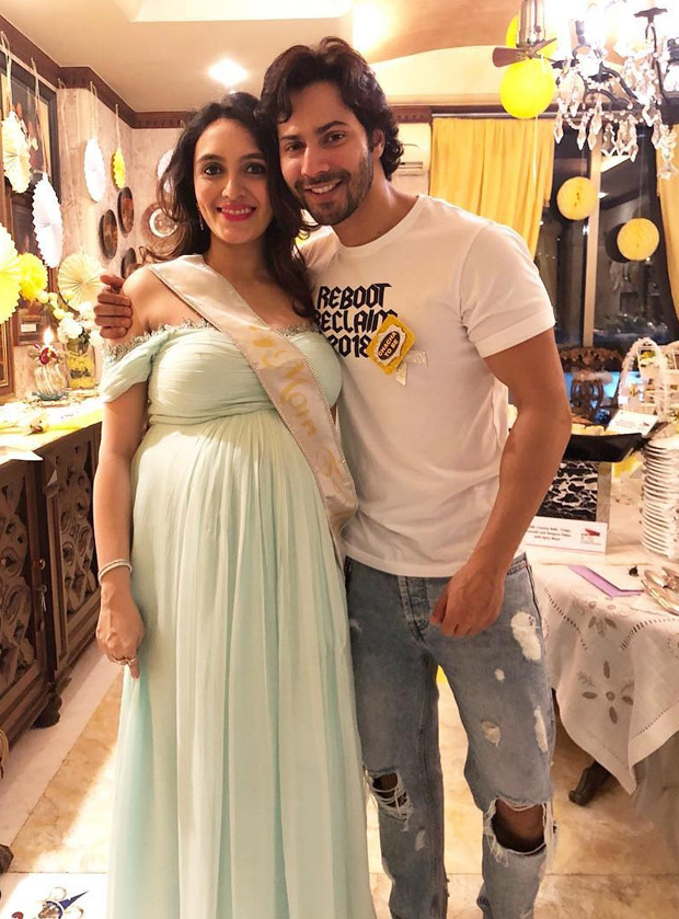 Varun Dhawan shares a lovely picture with sister-in-law Jaanvi Desai from her baby shower