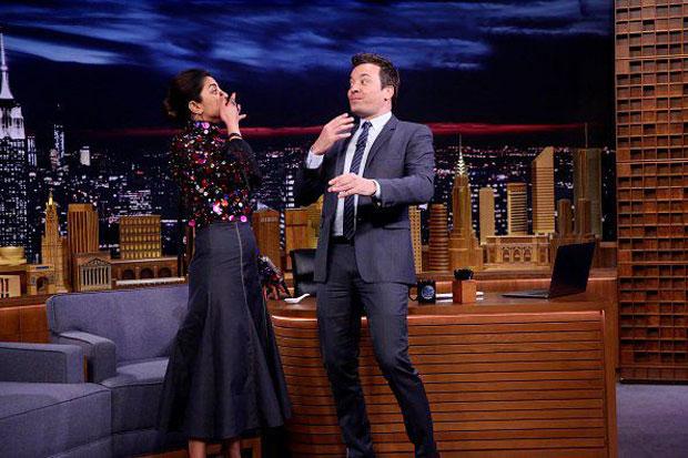 Watch: Priyanka Chopra challenges Jimmy Fallon to gulp 10 skittles at once on The Tonight Show Starring Jimmy Fallon