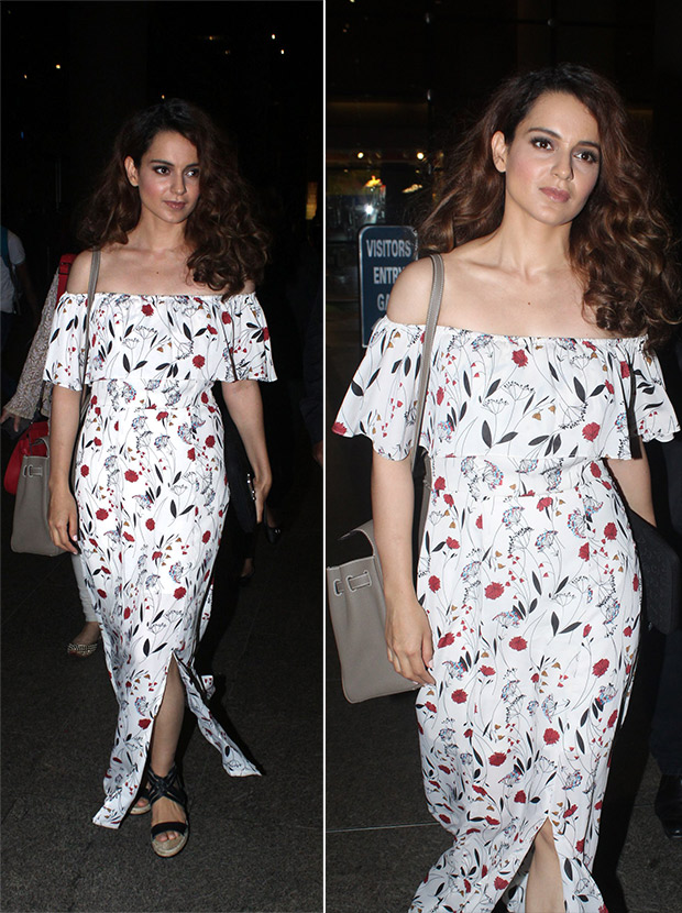Weekly Airport Style - Kangana Ranaut in AND dress