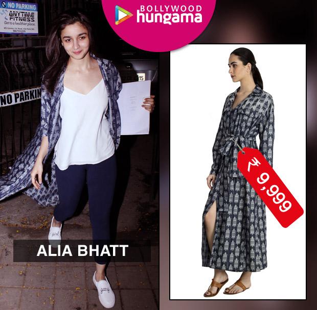 Weekly Celebrity Splurges - Alia Bhatt in House of Masaba