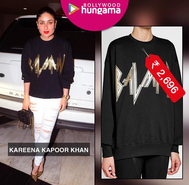 Weekly Celebrity Splurges - Kareena Kapoor Khan in Balmain