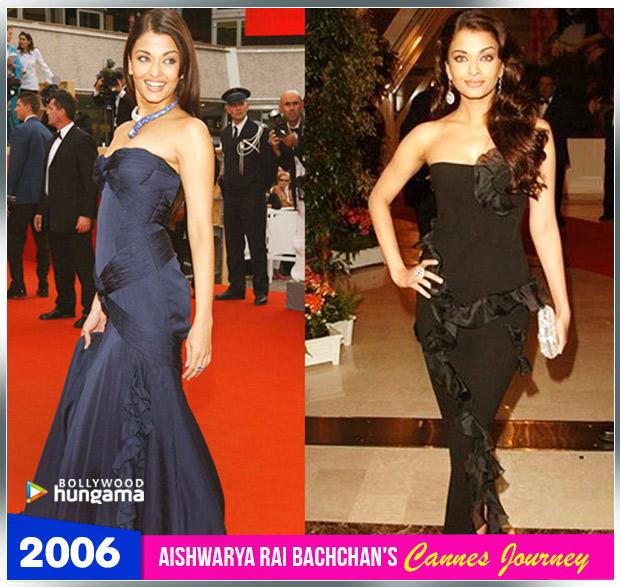 Aishwarya Rai Bachchan Cannes journey 2006