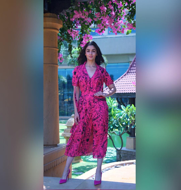 Alia Bhatt adds a dash of pink to the scorching temperatures