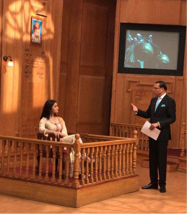 Alia Bhatt shoots for Rajat Sharma's Aap Ki Adalat