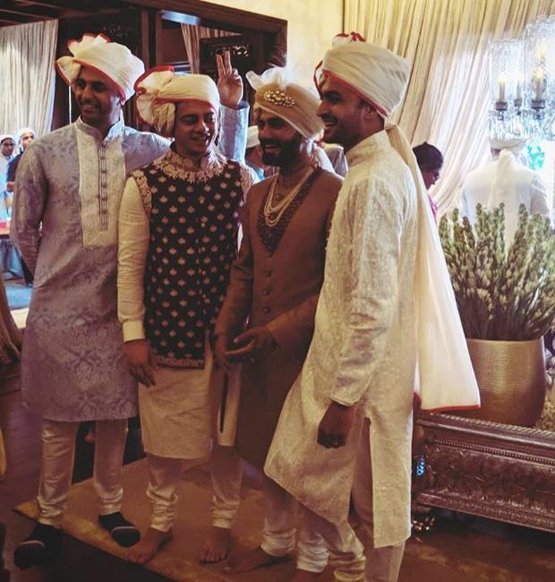 The bridegroom Anand Ahuja