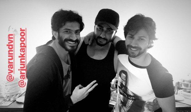 BROMANCE ALERT: Arjun Kapoor, Varun Dhawan and Harshvardhan Kapoor hang out together