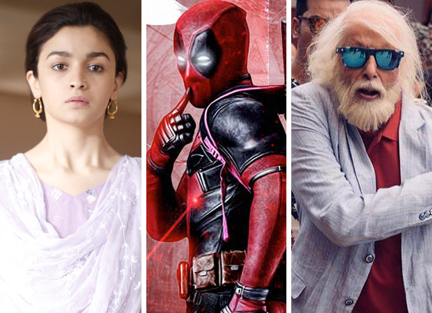 Box Office Monday collections - Raazi (3.70 crore), Deadpool 2 (approx. 5 crore), 102 Not Out (65 lakhs)