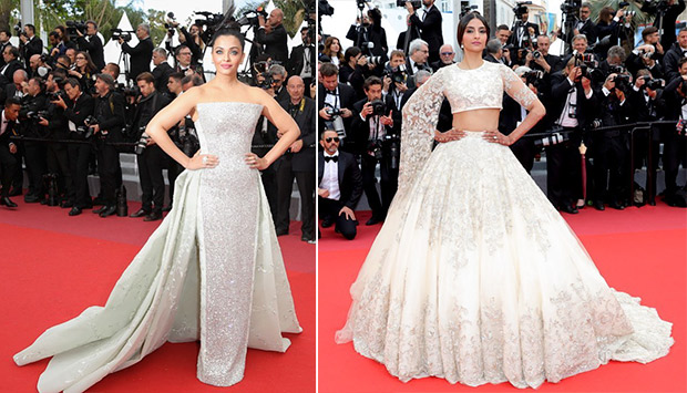 33ea0925351 Bridal couture on the red carpet - Aishwarya Rai Bachchan and Sonam Kapoor