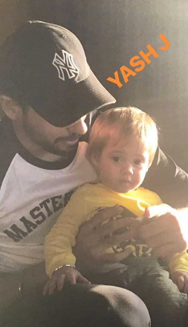 CUTIE ALERT: Sidharth Malhotra strikes a pose with Karan Johar's baby boy Yash Johar