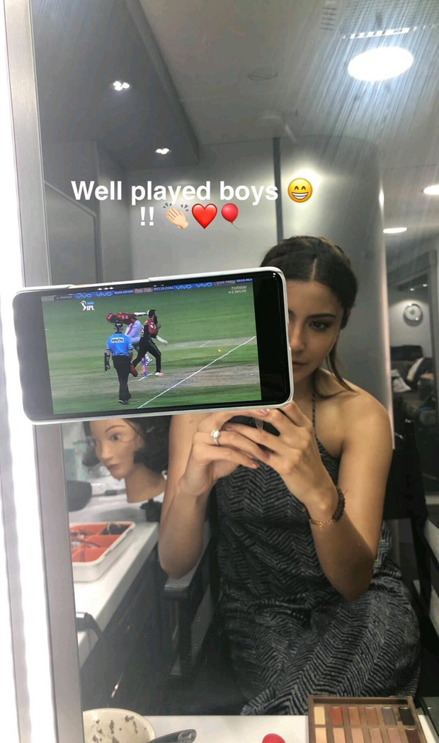 Couple Goals Much! Wifey Anushka Sharma happily cheers for hubby Virat Kohli on the sets of Zero