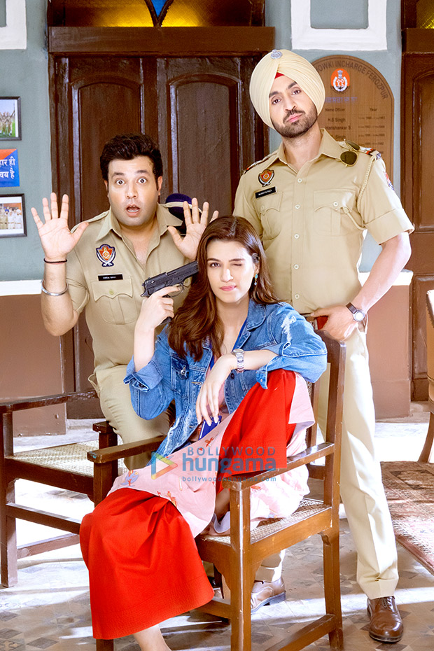 FIRST LOOK Diljit Dosanjh back in uniform with Kriti Sanon and Varun Sharma in Arjun Patiala