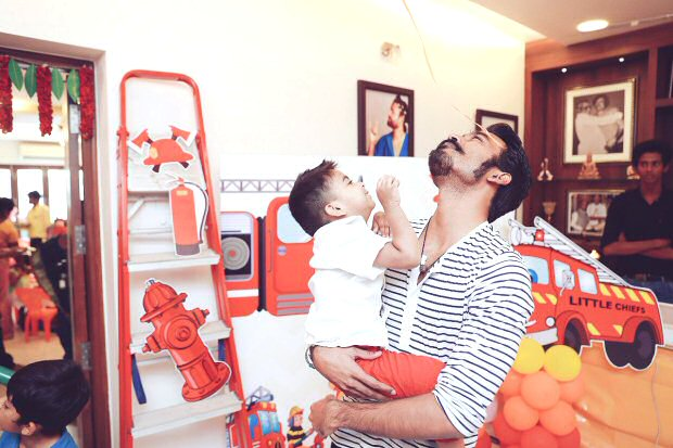 Here's how Rajinikanth celebrated the birthday of his grandson Ved with his daughters and son-in-law Dhanush